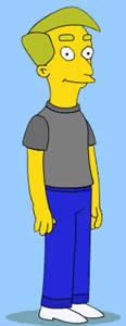 Steve Bryant as a Simpson's character.